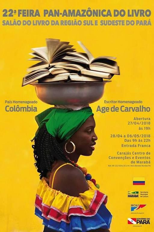 Cartaz da 22ª edição da Feira Pan-Amazônica do Livro que foi alvo de críticas