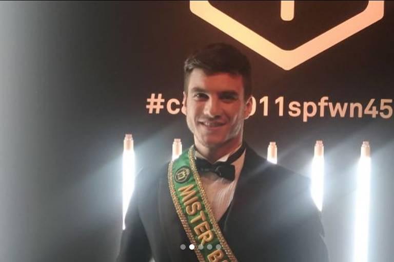 Bruno Poczinek, mister Brasil 2017, na 45ª SPFW