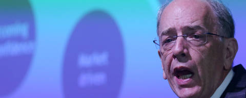 Brazil's state-run oil company Petroleo Brasileiro SA's CEO Pedro Parente speaks during the International Conference on The Economics of Oil in Rio de Janeiro, Brazil February 28, 2018. REUTERS/Pilar Olivares ORG XMIT: PON05