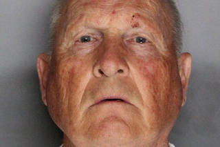 Joseph James Deangelo, 72 appears in a booking photo in Sacramento