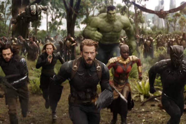 "Cena do filme ""Vingadores: Guerra Infinita"""
