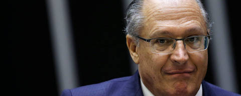Brazilian Social Democracy Party (PSDB) presidential election pre-candidate, former Sao Paulo Governor Geraldo Alckmin, reacts during a Session at the National Congress in Brasilia, Brazil April 25, 2018. REUTERS/Adriano Machado ORG XMIT: BSB102
