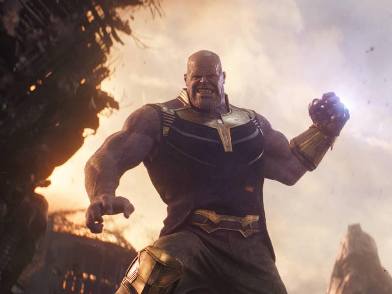 """Thanos em cena do filme """"Vingadores: Guerra Infinita"""""""