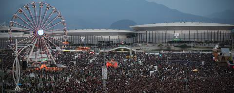 RIO DE JANEIRO/RJ BRASIL. 24/09/2017 - Vista geral do  Rock in Rio, realizado no Parque Olimpico na Barra da Tijuca.(foto: Zanone Fraissat/FOLHAPRESS, ILUSTRADA)***EXCLUSIVO***