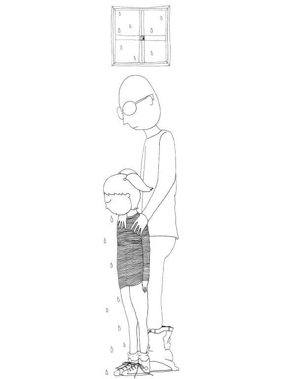 Ilustração de Luiza Pannunzio para relatos anônimos de pessoas que sofreram abuso na infância ou adolescência
