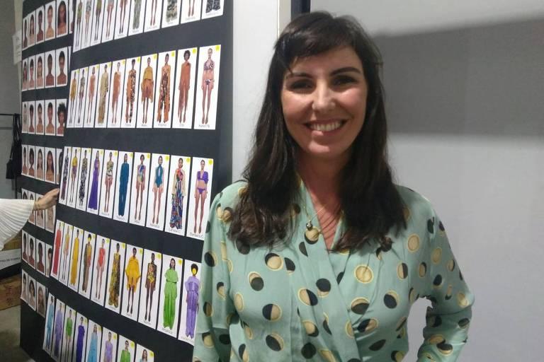 Glenda Koslowski prestigiou a amiga e estilista Lenny Niemayer na 45ª edição da SPFW