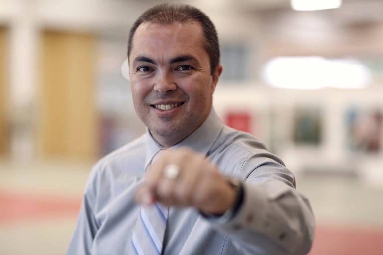 O ex-judoca e campeão olímpico Rogério Sampaio, medalha de ouro em Barcelona-1992, que assumirá como novo diretor-geral do COB