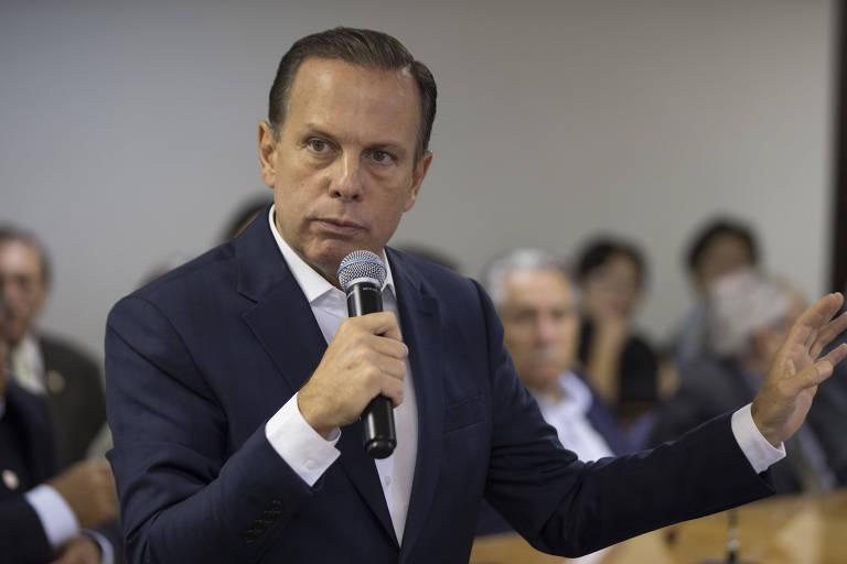 O ex-prefeito e pré-candidato ao governo de São Paulo João Doria (PSDB), durante palestra na Associação Comercial de São Paulo