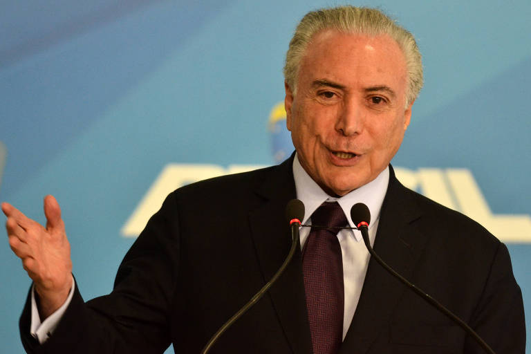 Presidente Michel Temer em evento no Palácio do Planalto, nesta quinta (26)