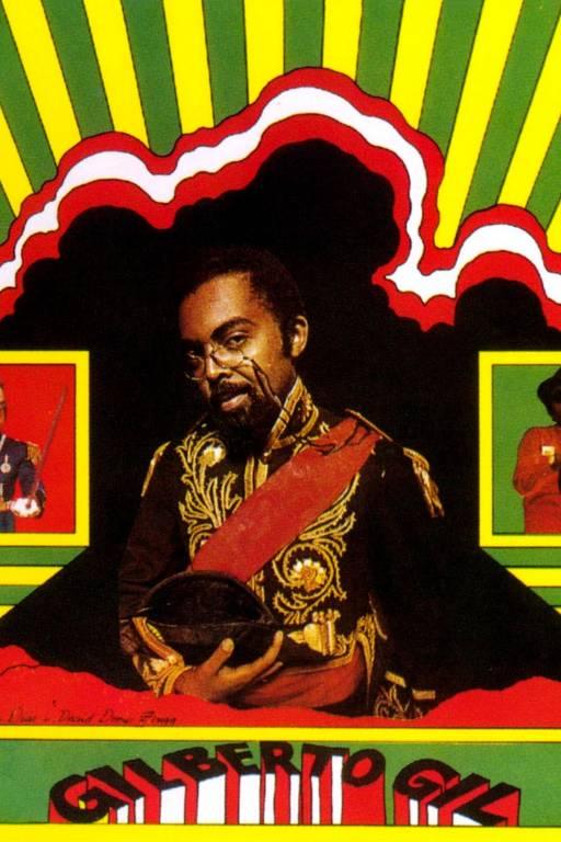 Capa de disco de Gilberto Gil com design de Rogério Duarte