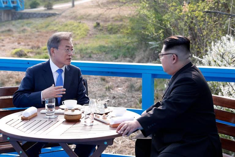 Líderes da Coreia do Norte e do Sul fazem primeira cúpula em 11 anos