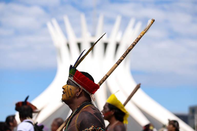 Protesto de indígenas