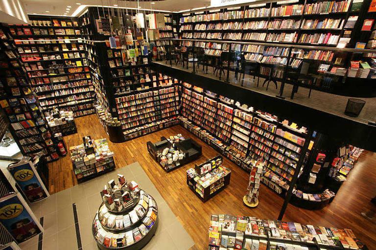 A rede Saraiva vende livros, filmes, games e itens de papelaria