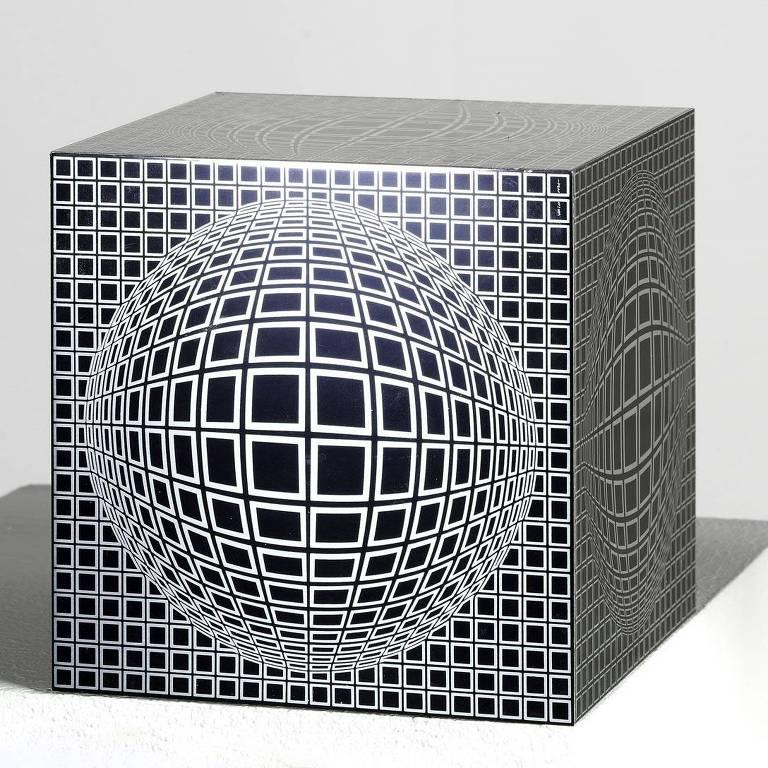 Obra de alumínio 'Vega-Eox Positif' (1968), de Victor Vasarely