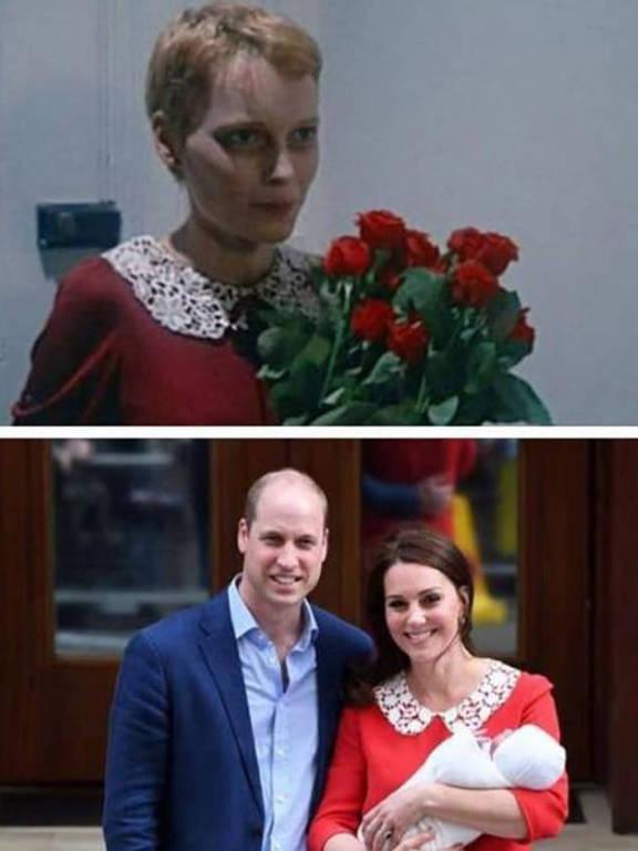 """kate Middleton usa vestido semelhante ao de Mia Farrow em """"O Bebê de Rosemary"""""""