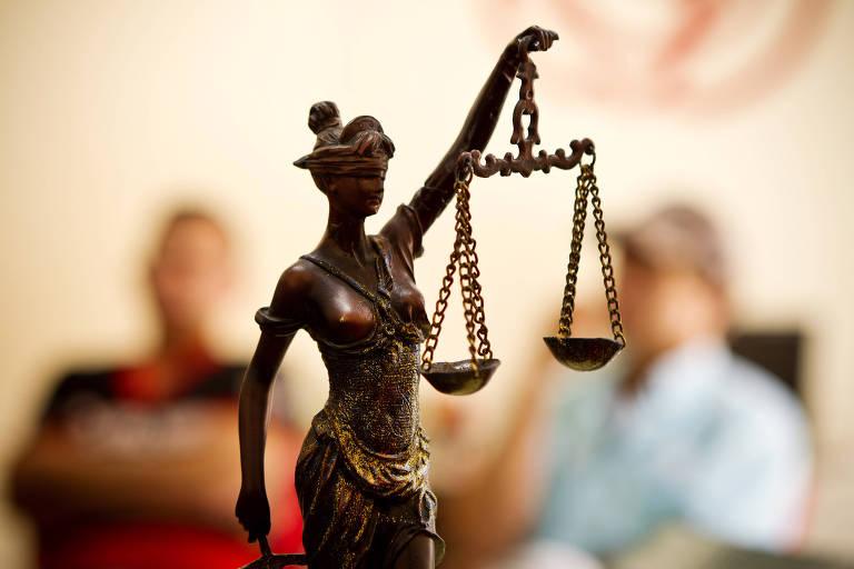Deusa Têmis, que representa a Justiça