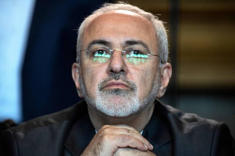 O chanceler do Irã, Mohammad Javad Zarif, durante reunião em Moscou