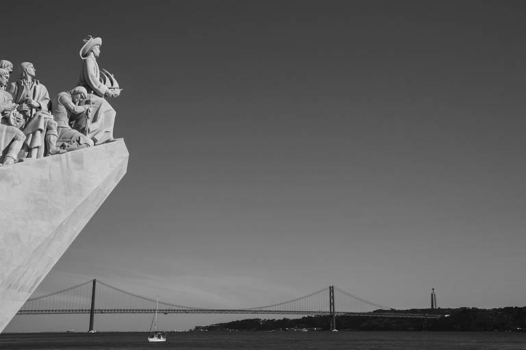 Monumento aos Descobrimentos na região do Belém. em Lisboa