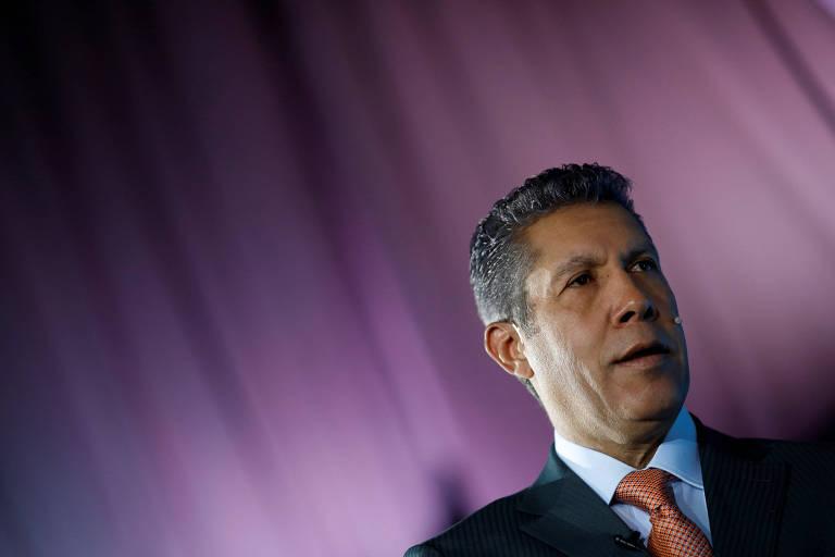 O candidato a presidente da Venezuela, Henri Falcon, durante evento em Caracas