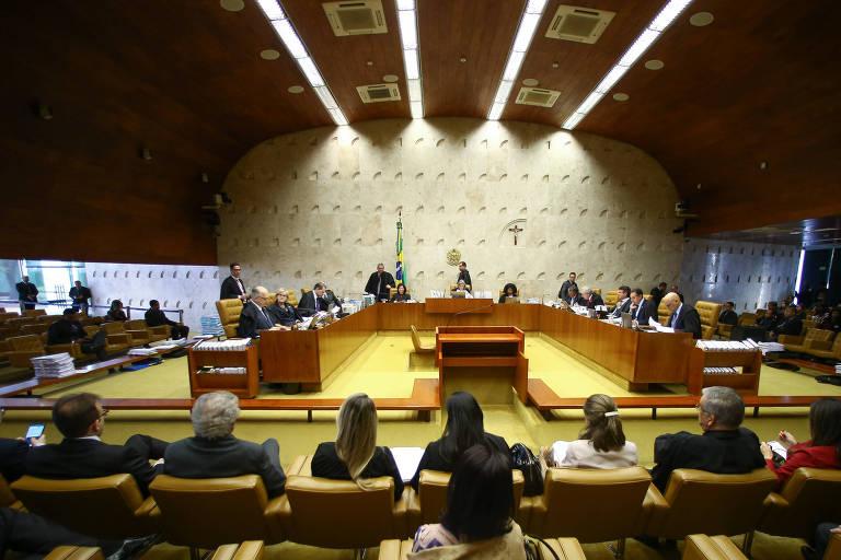 Sessão plenária do STF, em Brasília