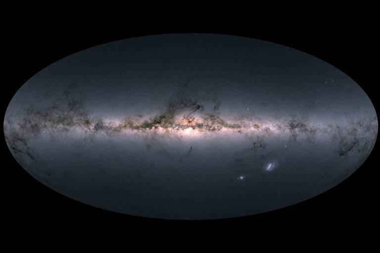 Via Láctea e galáxias próximas foram mapeadas pela Agência Espacial Europeia (ESA)