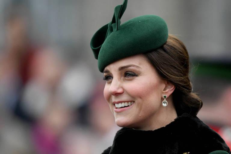 Kate Middleton nas celebrações do St Patrick's Day, em Londres, em 17 de março de 2018