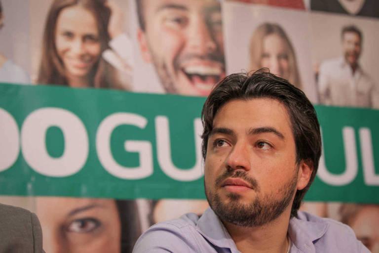 O prefeito de Guarulhos, Gustavo Henric Costa, o Guti, após vencer as eleições municipais de 2016