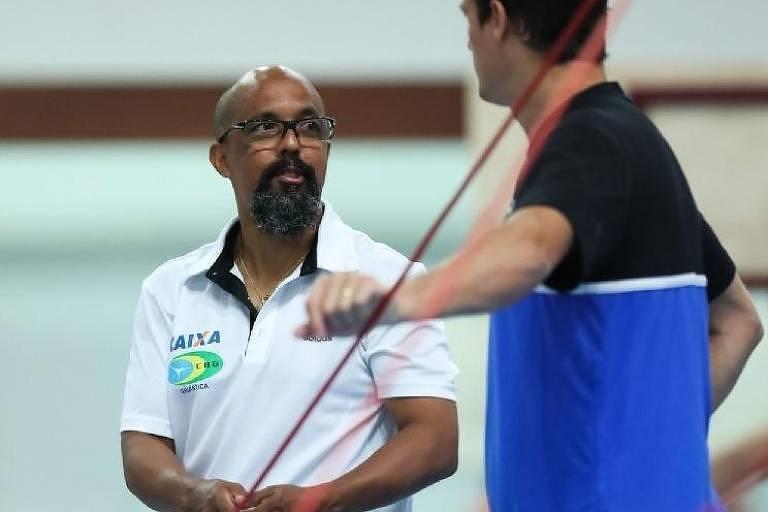 Marcos Goto,  coordenador técnico da seleção brasileira de ginástica artística