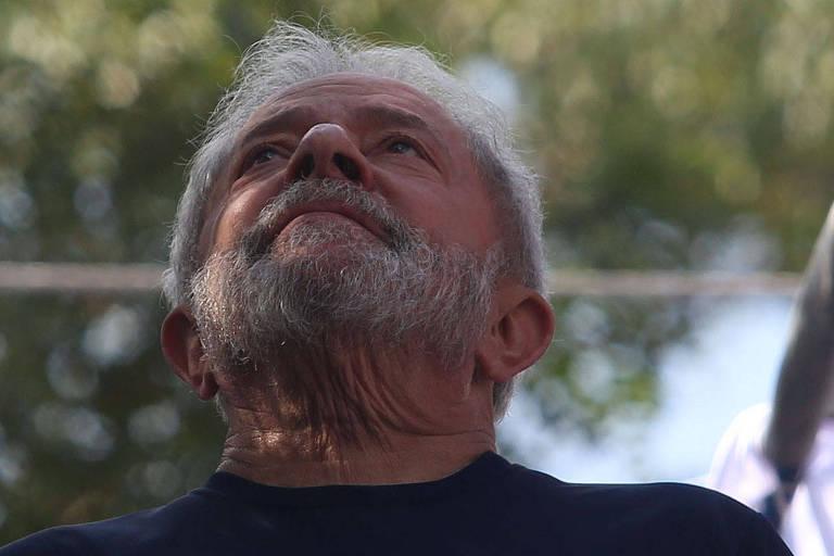 O ex-presidente Lula, condenado pelo caso do tríplex em Guarujá e preso desde abril