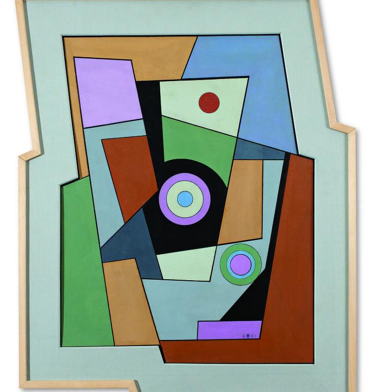 Obra de Carmelo Arden Quin exposta na Assis de Simões Galeria