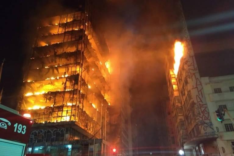 Relembre incêndios em prédios de São Paulo