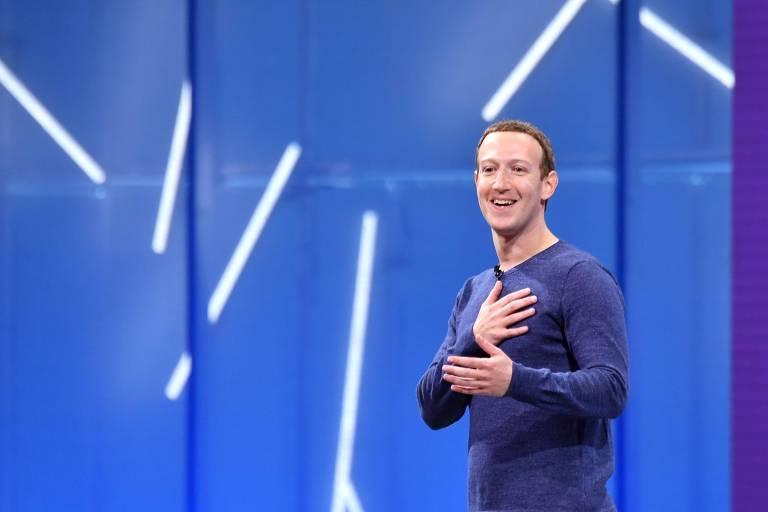 Mark Zuckerberg fala durante a conferência para desenvolvedores do Facebook