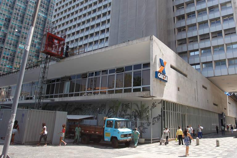 Prédio da Caixa Economica federal no centro do Rio