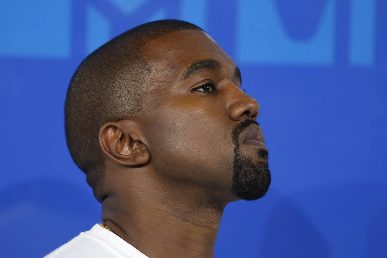 O rapper norte-americano Kanye West no MTV Video Music Awards em Nova York