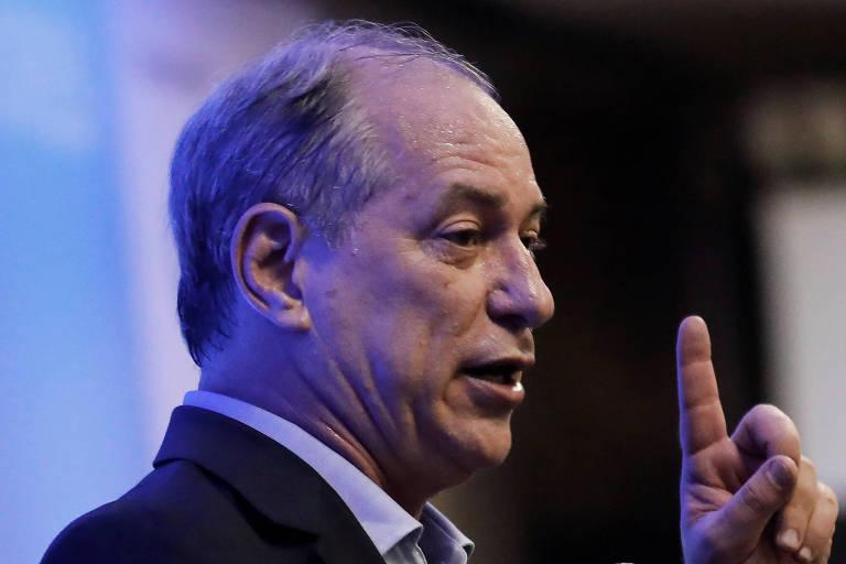 O pré-candidato pelo PDT, Ciro Gomes, durante fórum em São Paulo