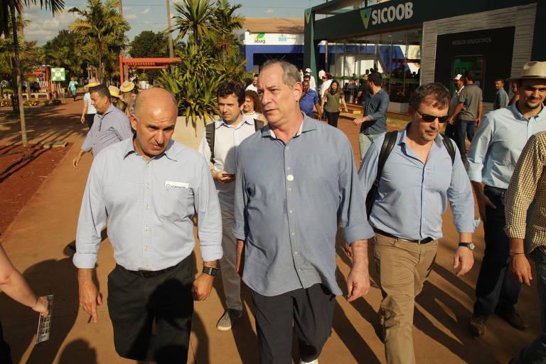 O pré-candidato à Presidência da República Ciro Gomes visitou a Agrishow em Ribeirão Preto, no interior de SP