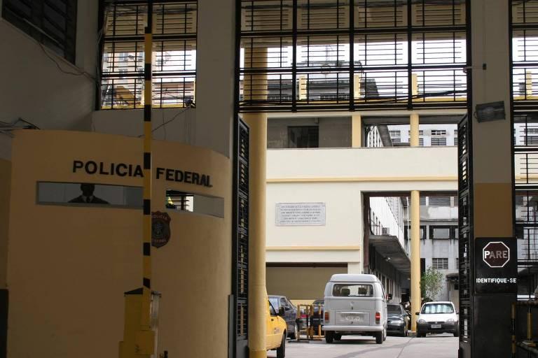 Entrada do prédio da Superintendência da Polícia Federal no Rio de Janeiro