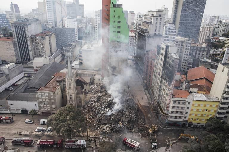 Desaparecidos em desabamento de prédio no centro de SP