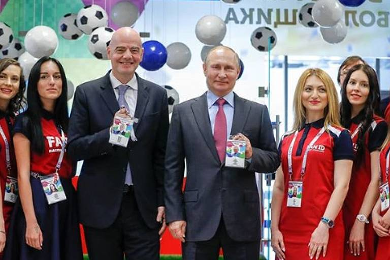 Gianni Infantino e Vladimir Puttin