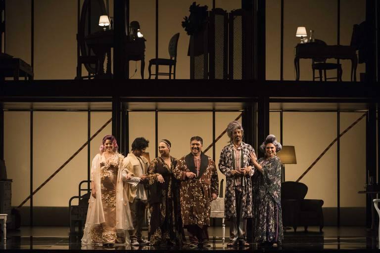 "Elenco da ópera ""O Matrimônio Secreto"""
