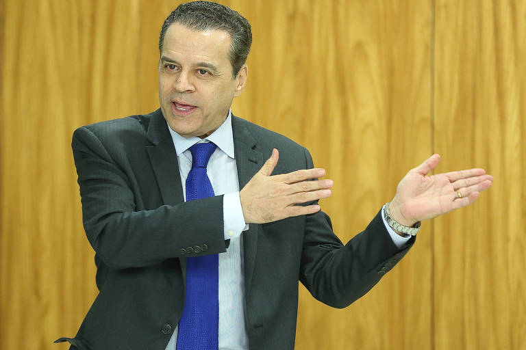 O ex-ministro do Turismo Henrique Eduardo Alves no Palácio do Planalto, em Brasília