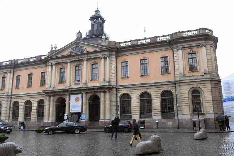 Prédio sede da Academia Sueca em Estocolmo