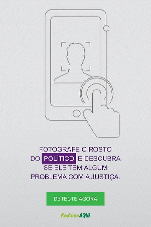 Reprodução da tela do aplicativo Detector de Corrupção