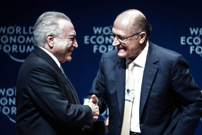 Temer aperta a mão de Alckmin