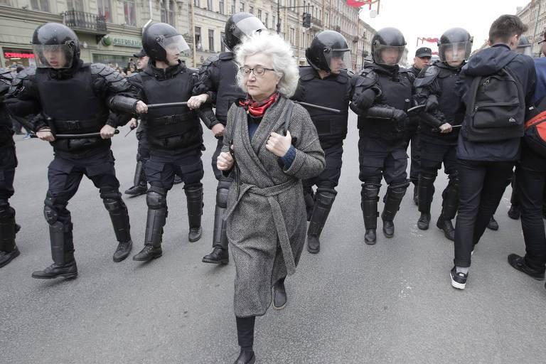Protestos contra posse de Putin