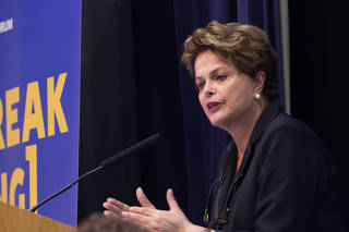 President Dilma Rousseff at the first day of Brazil Forum 2018 at LSE university, London.