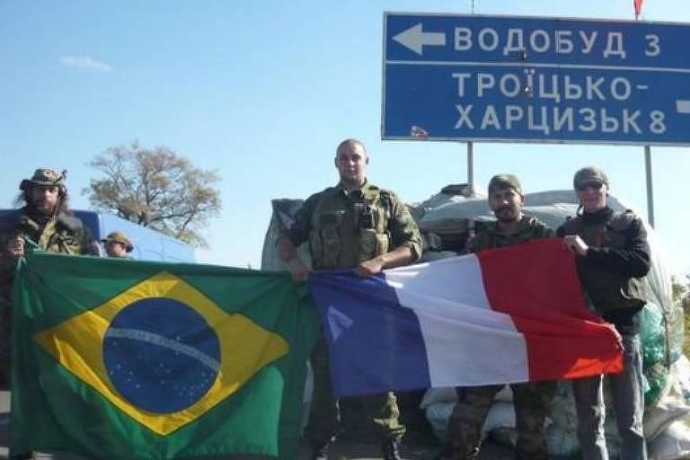 O guerrilheiro brasileiro Rafael Lusvarghi, capturado na Ucrânia