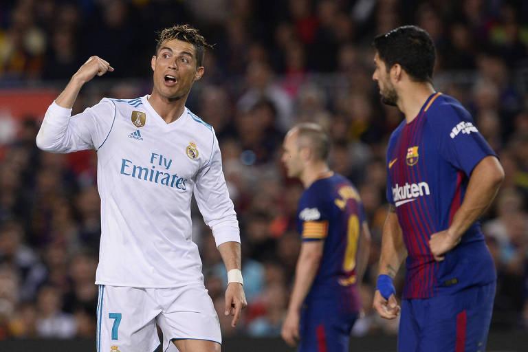 Barcelona e Real Madrid jogam sem Messi e Cristiano em campo pela 1ª vez em 11 anos