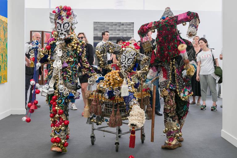 Frieze New York // Raul de Nieves with with Erik Zajaceskowski, Company Gallery, Live program, Frieze New York 2018  Photo by Mark Blower. Courtesy of