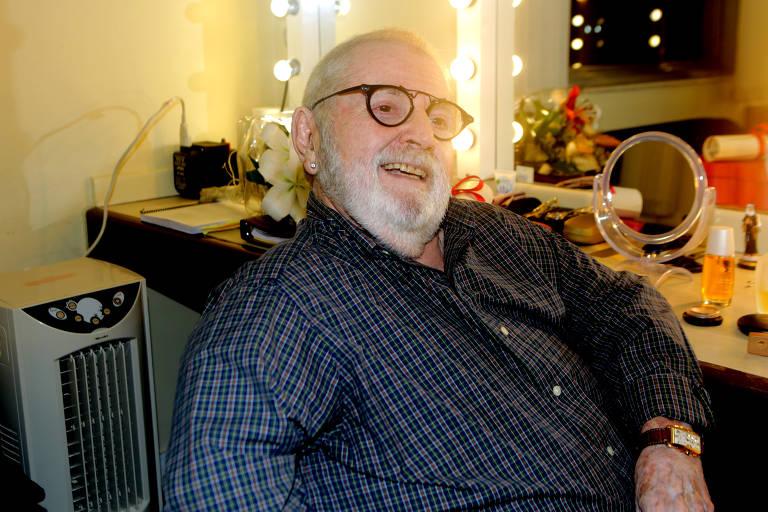 """O ator, diretor e humorista Jô Soares, que atua e dirige a peça """"A Noite de 16 de Janeiro"""""""